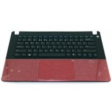 Верхняя крышка корпуса Dell Vostro 5460 5470 5480 с тачпадом/сканером отп. пальца красный