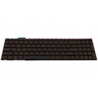Клавиатура для ноутбука ASUS N551 N552 N751 R555 G551 GL551 GL752 BLACK RU Red BackLight
