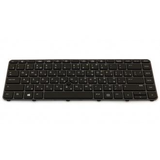 Клавиатура для ноутбука HP EliteBook 745 G3 745 G4 840 G3 840 G4 848 G3 848 G4 GRAY FRAME BLACK RU BackLight (с поинтстиком)