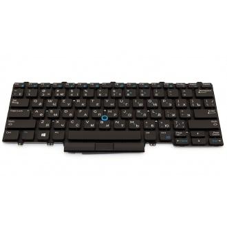 Клавиатура для ноутбука DELL Latitude E5450 E7450 E5470 E7470 BLACK RU BackLight (с поинтстиком)