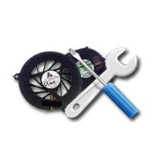Установка системы охлаждения, вентилятора для ноутбука