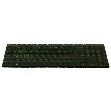 Клавиатура для ноутбука HP Pavilion 15-da 250 G7 255 G7 15-da 15t-da 15-db 17-ca 17-by Pavilion 15-cw 15-dr 15-dx 15-ds 15-dk BLACK RU с зелеными буквами BackLight