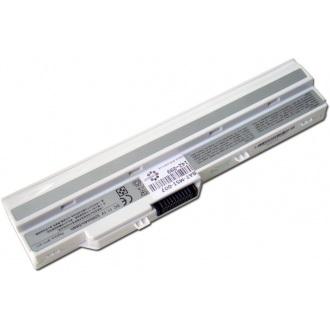 Батарея для ноутбука MSI U90 U100 U110 U115 U120 U123 U130 U150 U200 U210 U230 / 11.1V 5200mAh (58Wh) WHITE OEM (BTY-S12)