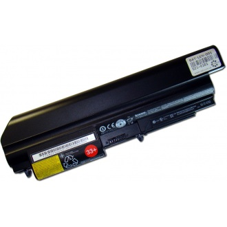Батарея для ноутбука LENOVO ThinkPad R60 R61 R400 R500 SL300 SL400 SL500 T60 T61 T400 T500 W500 / 11.1V 5200mAh (57Wh) BLACK ORG (40Y7699)